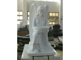 Hunan White Marble Carved Angel